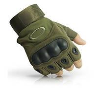 Тактические перчатки Оakley Короткопалые олива, L