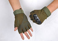 Тактические перчатки Оakley Короткопалые олива, XL