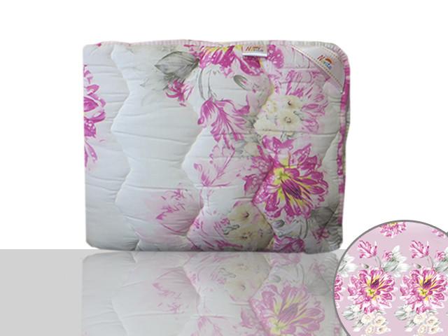 Одеяло силиконовое двуспальное (сиреневые цветы)