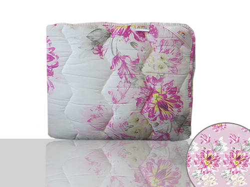 Одеяло силиконовое Евро (сиреневые цветы)