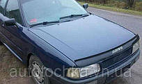 Дефлектор на капот (мухобойки) Audi 80 (B3) 1986-1991