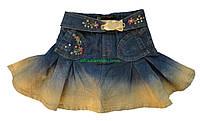 Джинсовая юбка для девочки, рост 100 см