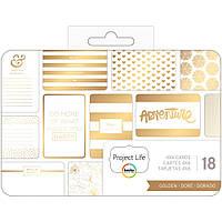 Набор карточек Project Life Golden 18 шт (718813806060)