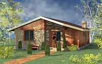 Каркасный дом, общей площадью 65,9 м.кв.