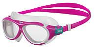 Широкие очки для подводного плавания розовые