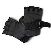 Летние тактические перчатки без пальцев черные L, XL полиэстер
