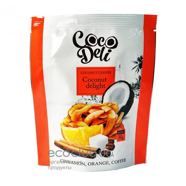 Чипсы кокосовые со вкусом апельсина, корицы и кофе ТМ Coco Deli 30г