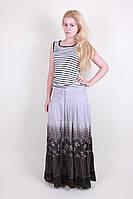 Молодежная женская летняя длинная юбка