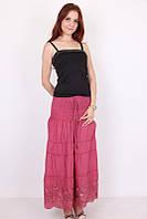 Красивая летняя женская юбка терракотового цвета
