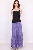 Красивая летняя женская юбка фиолетового цвета
