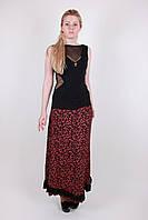Модная трикотажная женская летняя юбка