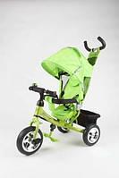Велосипед детский с крышей Lexus Azimut Trike BC17B AIR зеленый с надувными колесами