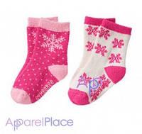 Gymboree Носки розовые, Снежинки