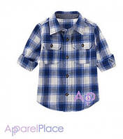 Gymboree Рубашка фланелевая в синюю клетку