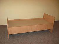 Кровать детская с заокругленными спинками 1400*640*600