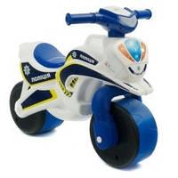 Детский толокар Байк Полиция 0139/51 Фламинго - Тойс, белый с синим
