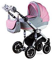 Детская коляска Adamex Lara len 51L малиновый