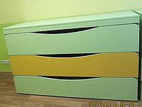 Кровать детская 3-х ярусная роздвижная с тумбой(1616*658*995)