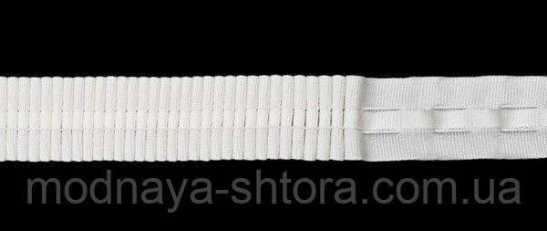 Драпировочная лента (шторная тесьма) шир. 2,5 см, х/б