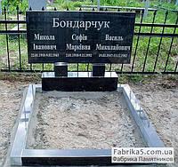 Памятник двойной с надписями