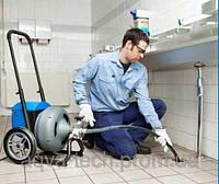 Прочистка внутренней канализационной сети электро-механическим способом