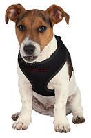 **Шлея-жилетка для собак 26-34см+поводок 2метра/черный