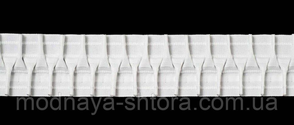 Драпірувальна стрічка (шторна тасьма) шир. 6 см, х/б