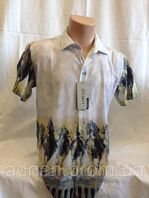 Рубашка мужская короткий рукав LORENTI (всадники)