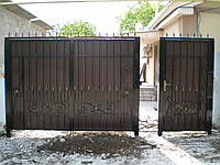 Ворота ковка + профнастил