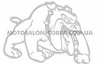 """Наклейка   декор   """"DOG""""   (13x10cм, белая, правая)   (#HQ007WR)"""