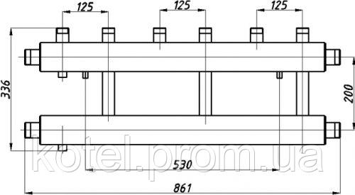Схема распределительного коллектора в изоляции Termojet СК 312.125