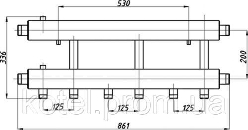 Схема распределительного коллектора в изоляции Termojet СК 342.125