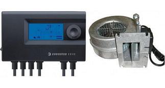 Комплекты автоматики для твердотопливных котлов (блоки управления и вентиляторы)