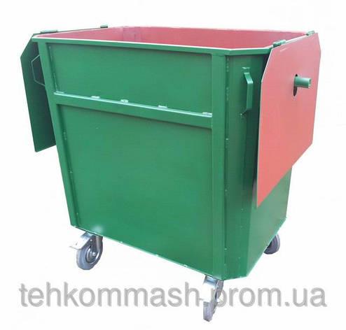 Мусорный контейнер ЕКП-1,1 под евромусоровоз, фото 2