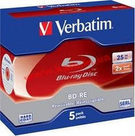 Диск VERBATIM BD-RE SL 25Gb 2x Jewel 5 pcs 43615 (43615)