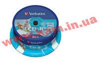 Диск VERBATIM CD-R 700Mb 52x Cake 25 Print 43439