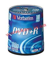 Диск VERBATIM DVD+R 4,7Gb 16x Cake 100 pcs 43551 (43551)