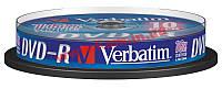 Диск VERBATIM DVD-R 4,7Gb 16x Cake 10 pcs 43523 1 (43523)