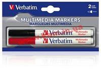 Пластиковые маркеры с красящим пигментом IT/ acc VERBATIM MultiMediaMarkers TwinPack (2шт/ у (44125)