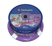 Диск VERBATIM DVD+R 8,5Gb DL 8x Cake 25 pcs Print (43667)