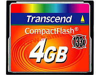 Карта памяти Transcend 4Gb CompactFlash Card 133x (TS4GCF133)