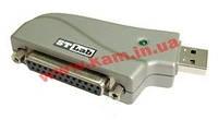 Адаптер STLab USB 2.0 A Male - LPT(DB-25) USB адаптер STLab U-370, брелок для подключения LP (U-370)