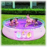 Бассейн с надувным бортом Fast Set 91052, серия Disney Princess, 244 х 66 см Новинка киев, фото 1