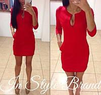 Женское  платье  капля красный -опт 215гн от 5 ед. - розница 265 грн
