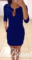 Женское  платье  капля синее -опт 215гн от 5 ед. - розница 265 грн