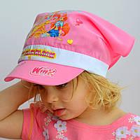 Детская Косынка Винкс (2-6 лет)р.52светло-роз, бел,клубн,персик,голуб. 54 р. бел, голуб, клубника