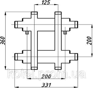 Схема распределительного коллектора в изоляции Termojet СК 172.125