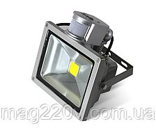 LED Прожектор 10 W , 6000К, 840LM c сенсором движения