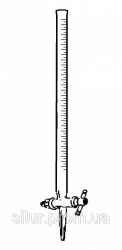 Бюретка мерная с градуировкой и прямым краном 50 мл