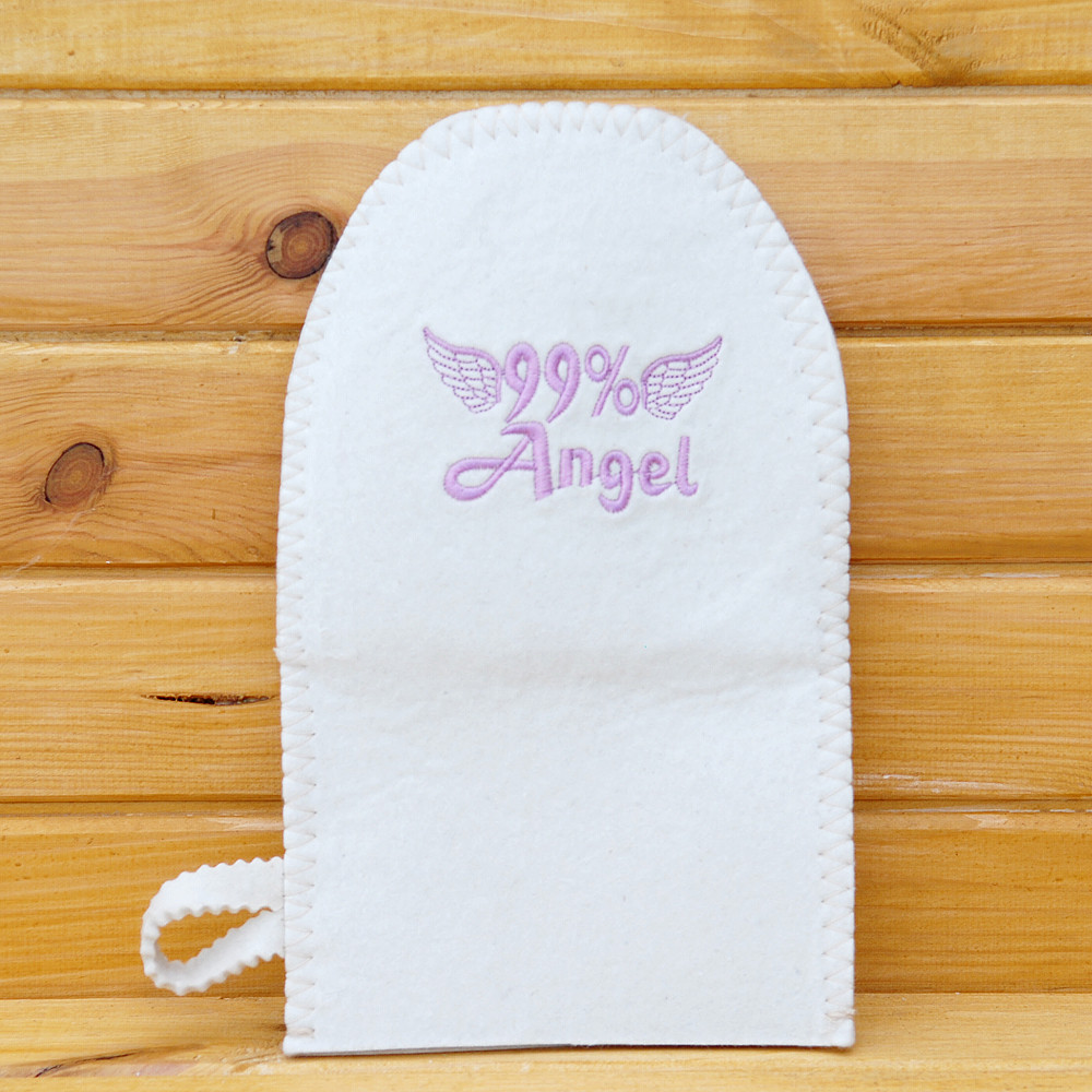 "Рукавица для бани ""99% Angel"" Войлок"